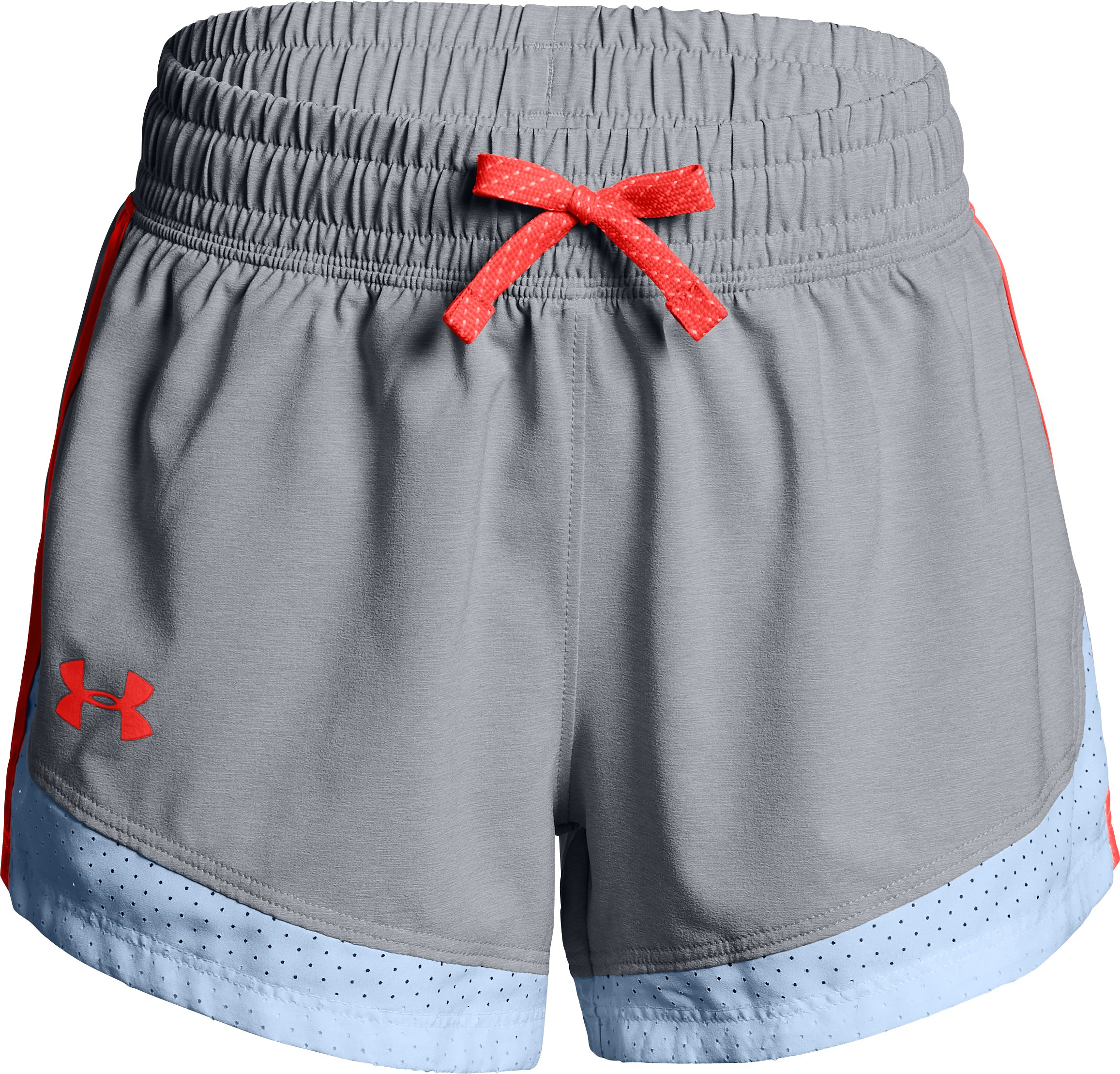 Girls' UA Sprint Shorts, OVERCAST GRAY