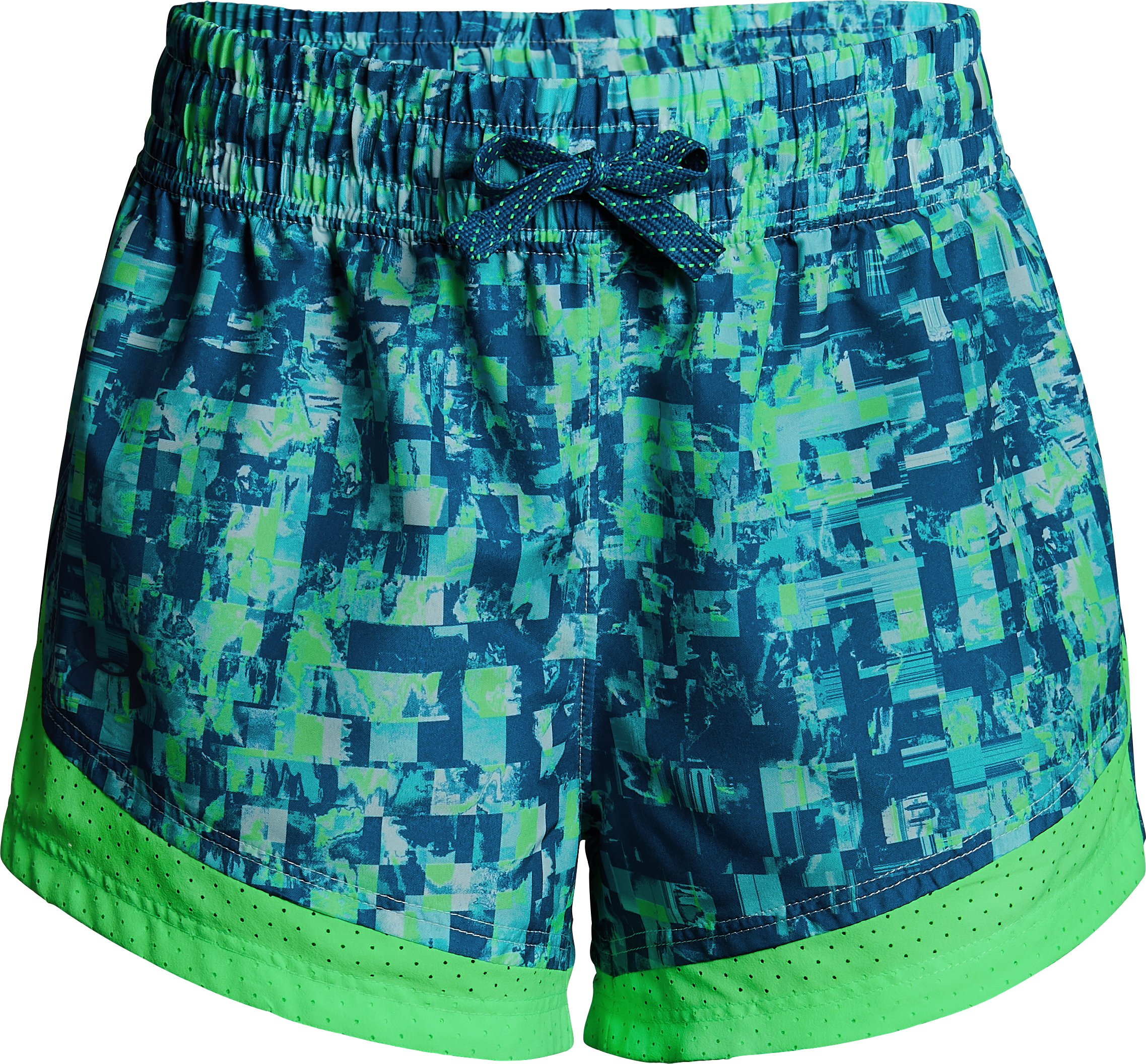 Girls' UA Sprint Printed Shorts, TROPICAL TIDE,