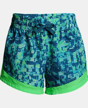 Girls' UA Sprint Printed Shorts  4  Colors Available $21 to $29.75