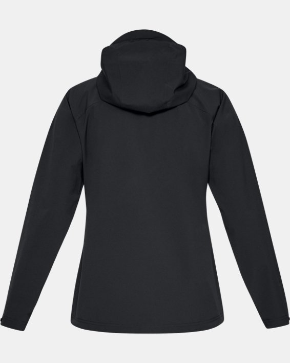 Women's UA Storm Rain Jacket, Black, pdpMainDesktop image number 5