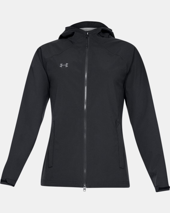 Women's UA Storm Rain Jacket, Black, pdpMainDesktop image number 4