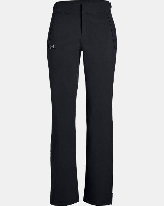 Women's UA Storm Rain Pants, Black, pdpMainDesktop image number 4