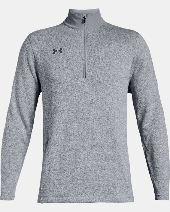 Men's UA Peak Performance Fleece ¼ Zip, Gray, pdpMainDesktop image number 4