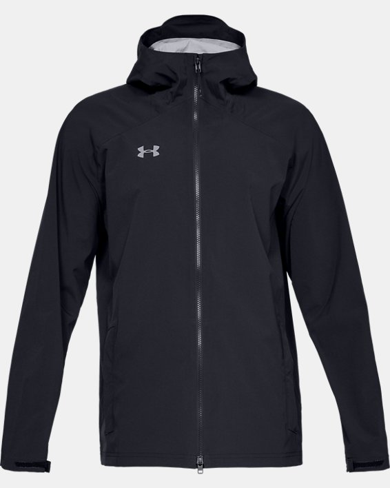 Men's UA Storm Rain Jacket, Black, pdpMainDesktop image number 4