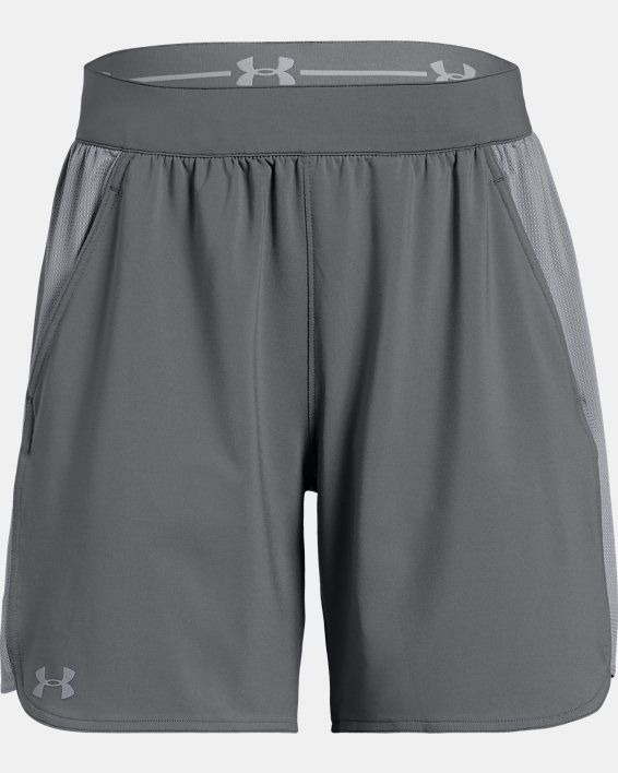 UA Women's UA Game Time Shorts, Gray, pdpMainDesktop image number 4