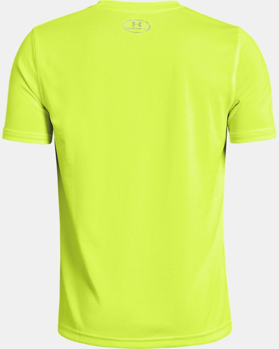 Boys' UA Locker T-Shirt, Yellow, pdpMainDesktop image number 1