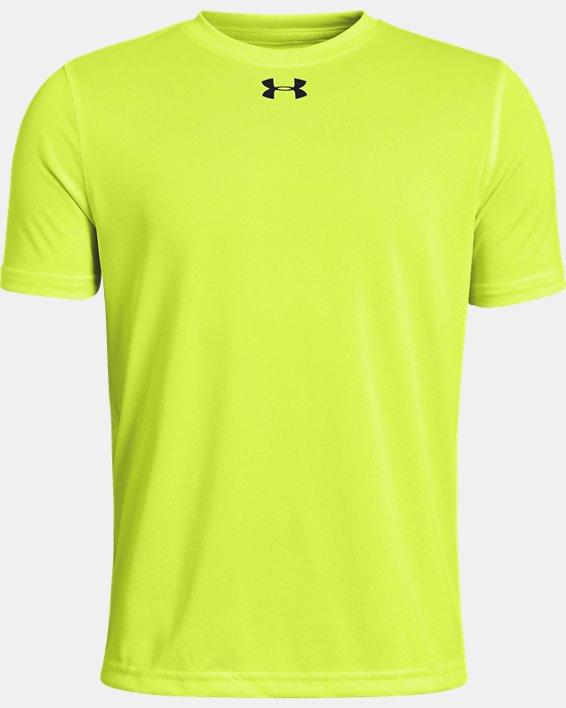 Boys' UA Locker T-Shirt, Yellow, pdpMainDesktop image number 0