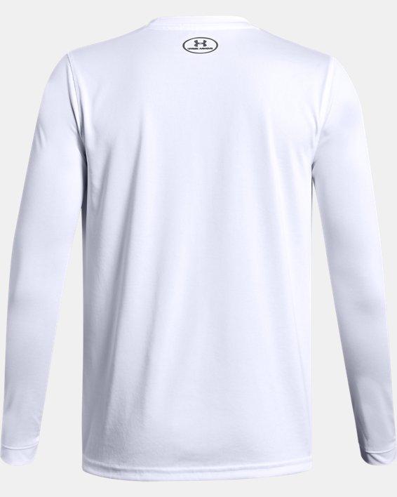 Boys' UA Locker Long Sleeve, White, pdpMainDesktop image number 1