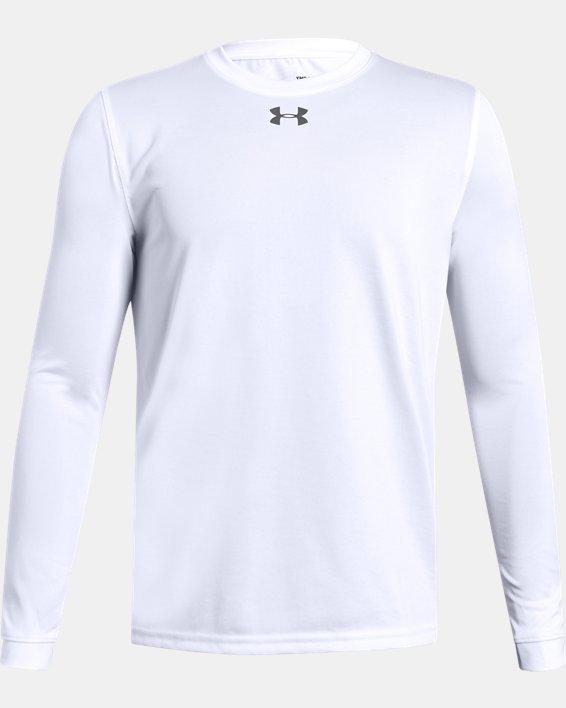 Boys' UA Locker Long Sleeve, White, pdpMainDesktop image number 0