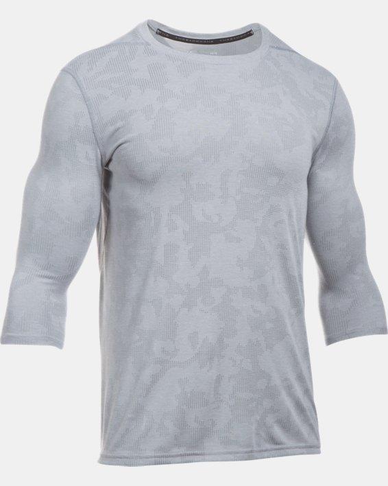 Men's UA Threadborne ¾ Utility T-Shirt, Gray, pdpMainDesktop image number 3