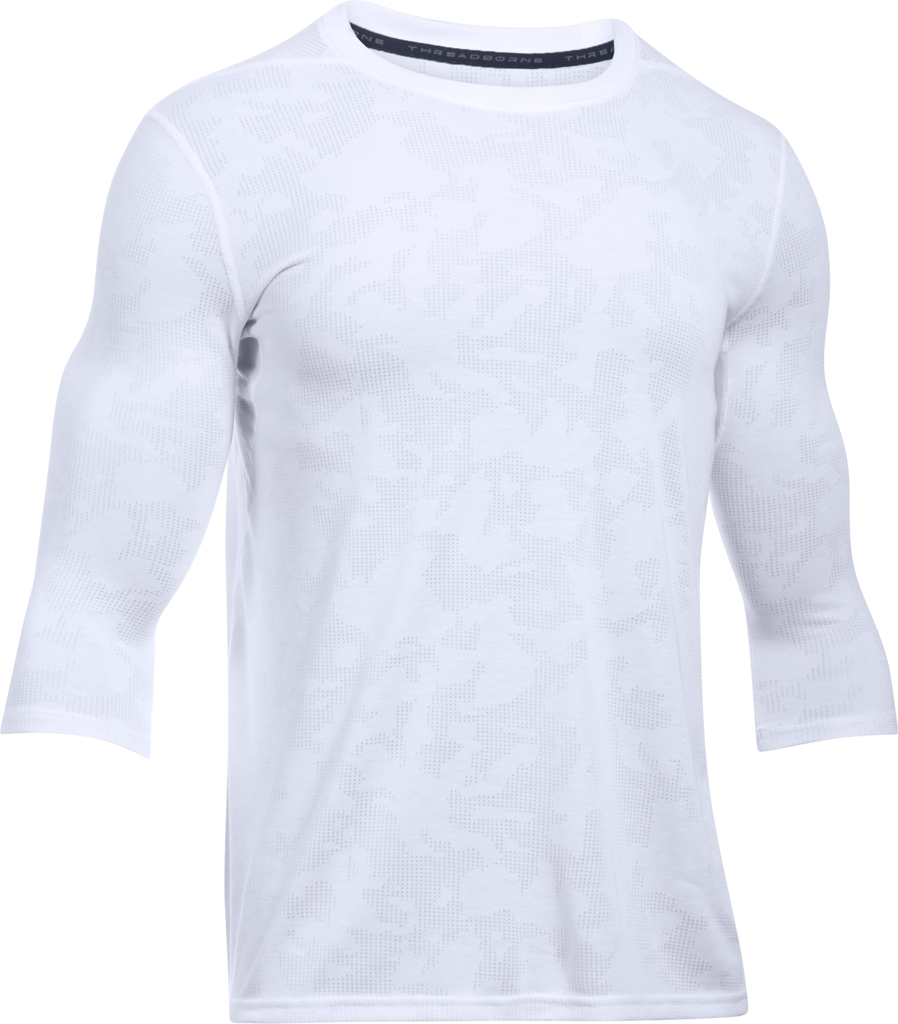 Men's UA Threadborne ¾ Utility T-Shirt, White,
