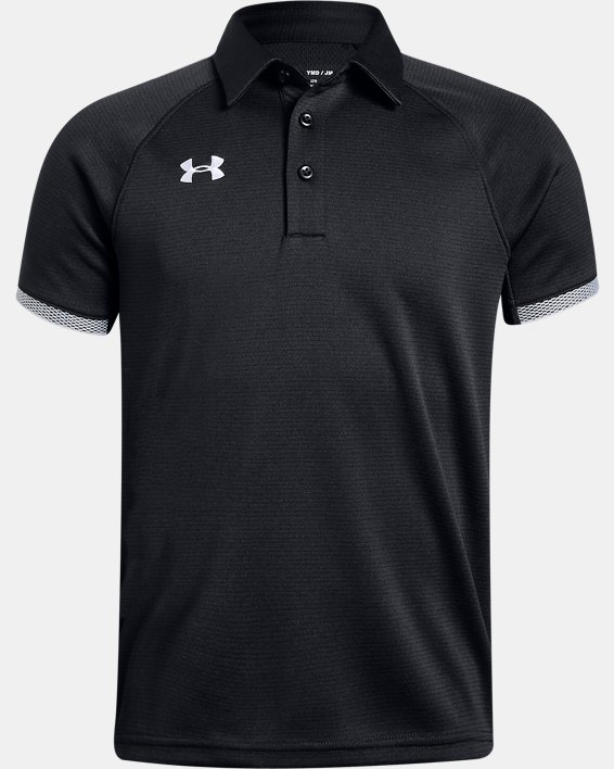 Boys' UA Rival Polo, Black, pdpMainDesktop image number 0