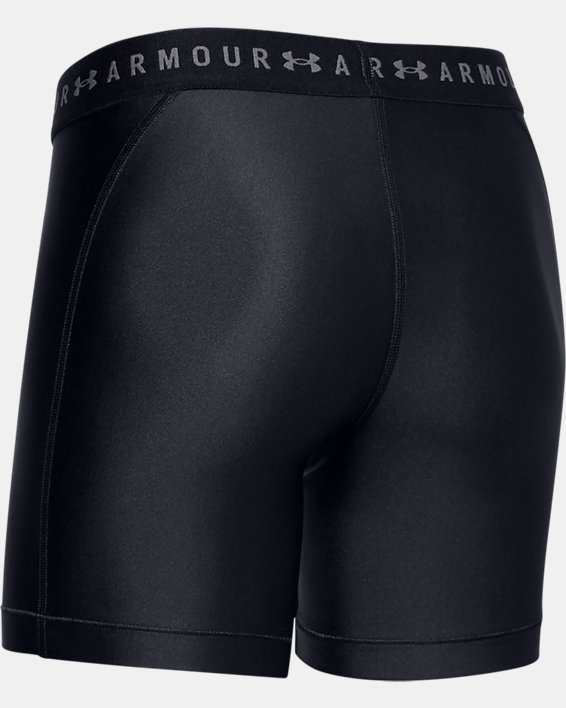 Women's HeatGear® Armour Mid Shorts, Black, pdpMainDesktop image number 5