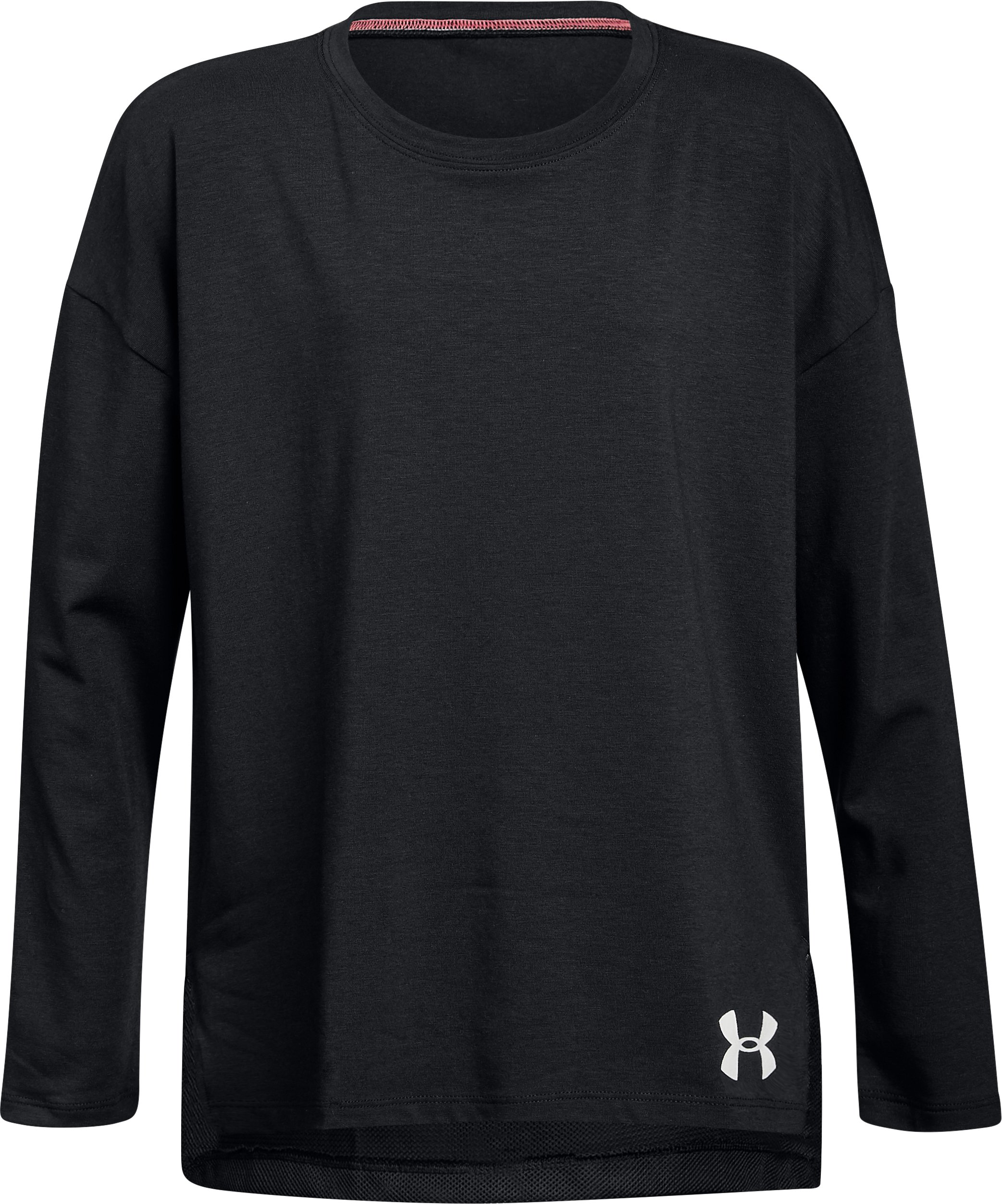 Girls' UA Finale Long Sleeve, Black ,
