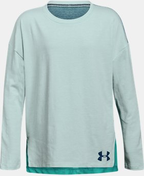 Girls' UA Finale Long Sleeve  4 Colors $30