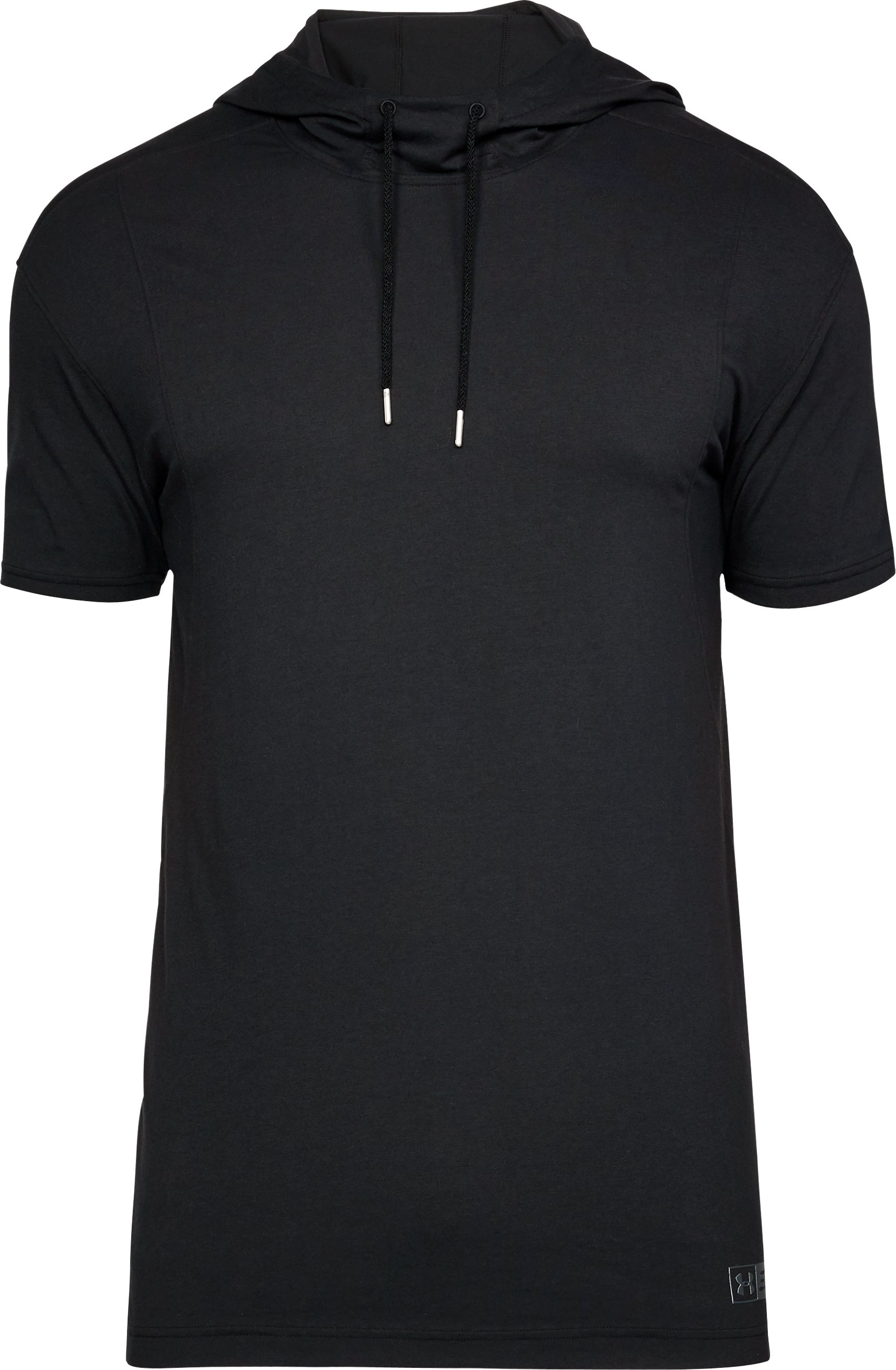 Men's SC30 Short Sleeve Hooded T-Shirt, Black ,