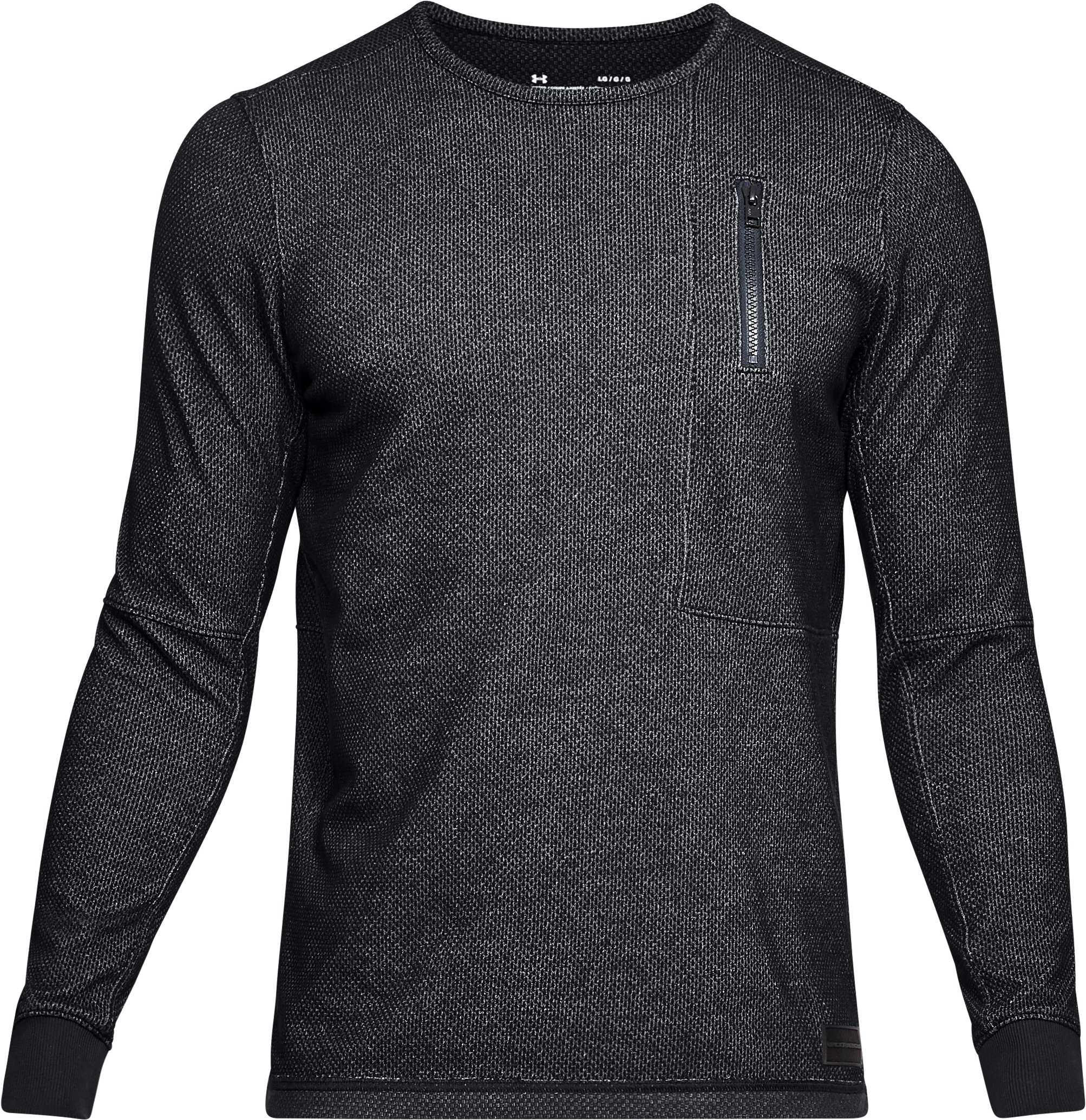 Men's UA Pursuit Block Fleece Crew, Black ,
