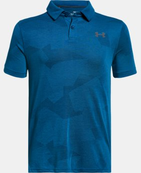 Boys' UA Siro JS Jacquard Polo FREE U.S. SHIPPING 1  Color Available $40