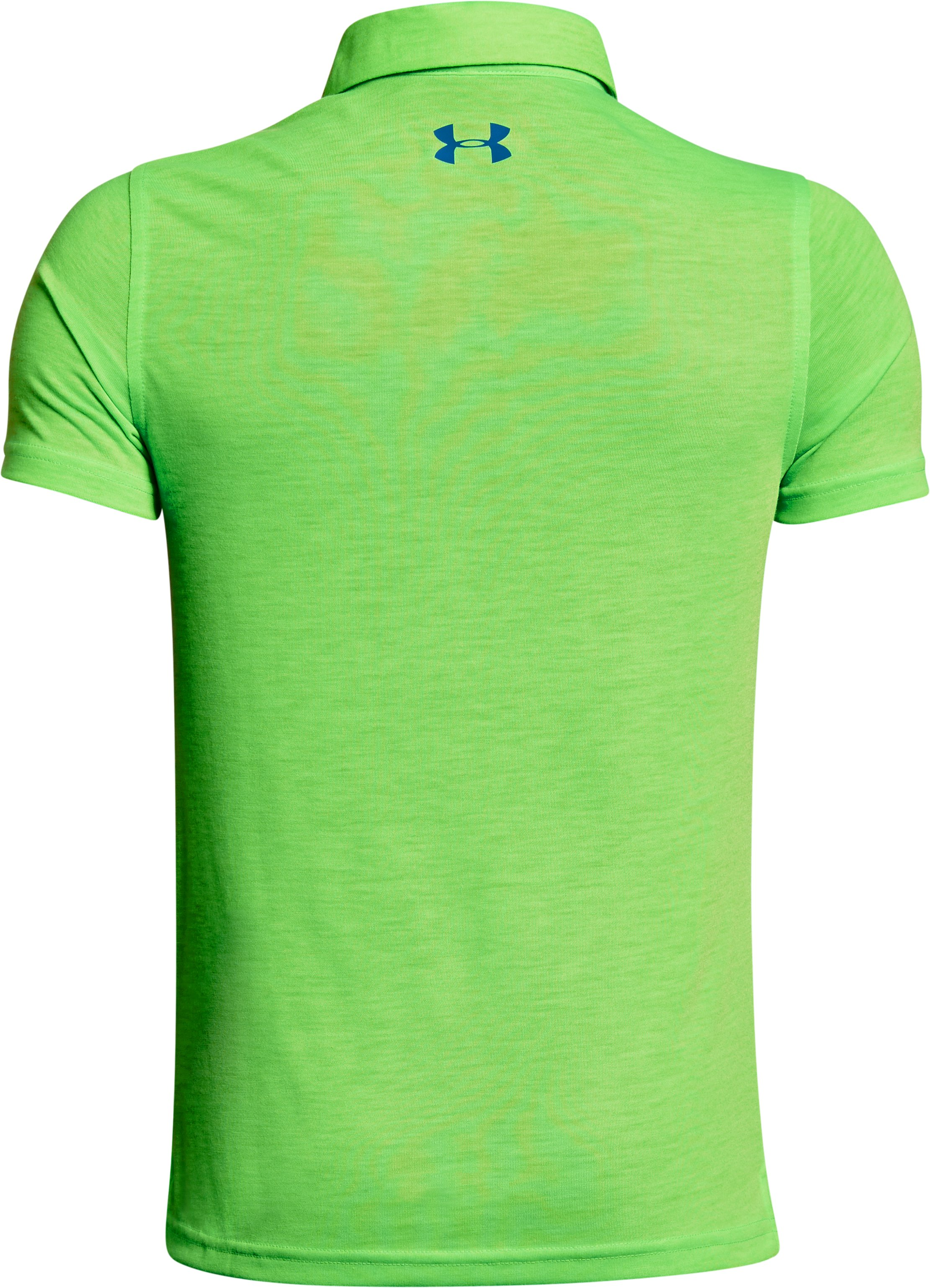 Boys' UA Bunker Polo, Poison,