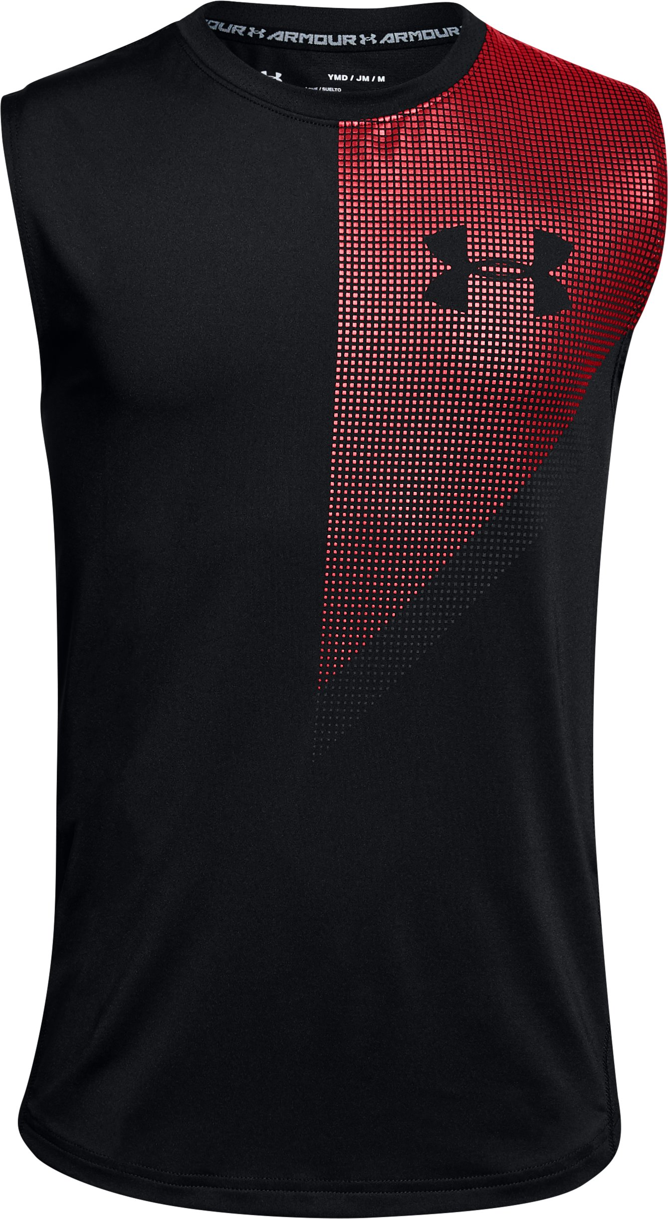 Boys' UA Raid Tank, Black ,