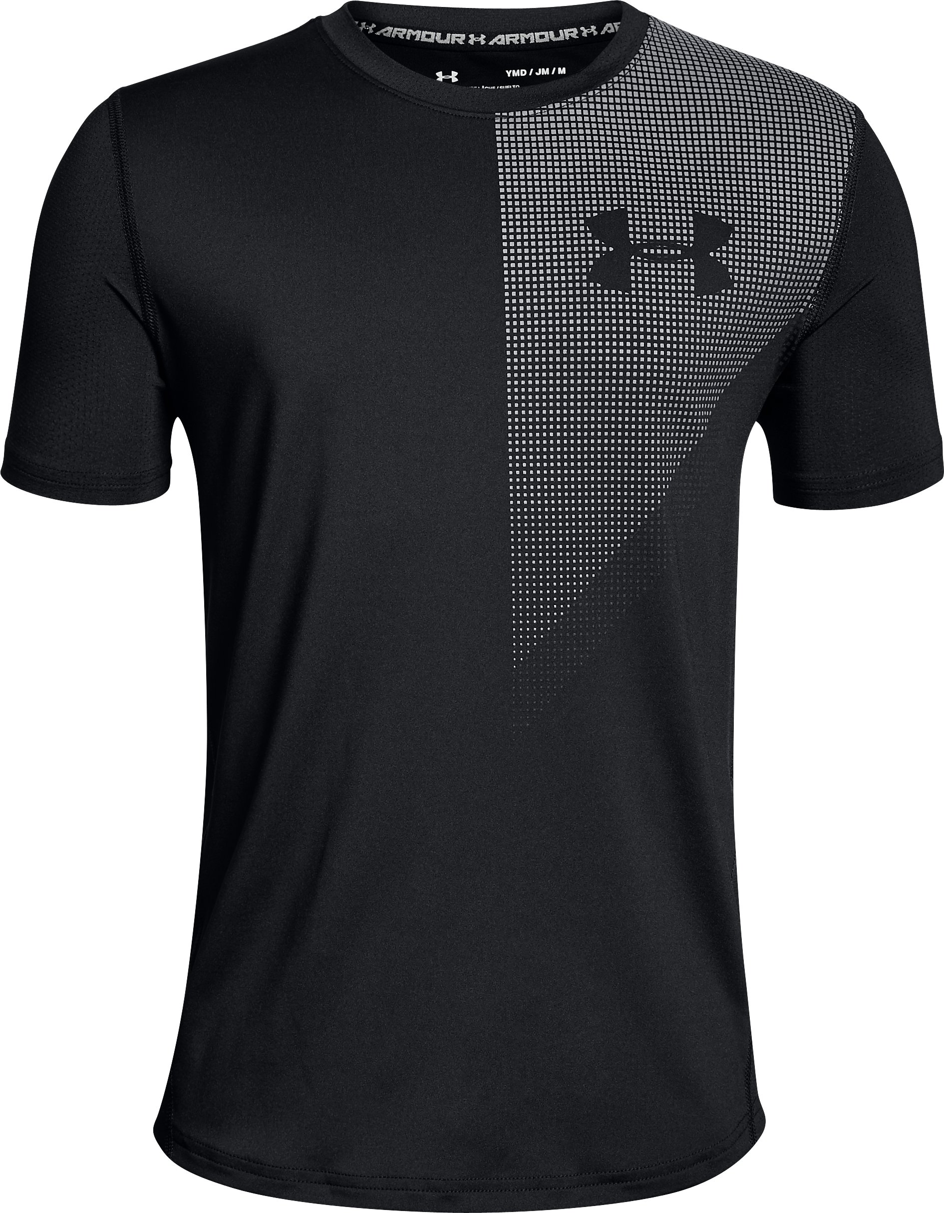 Boys' UA Raid Short Sleeve, Black ,