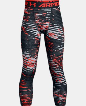 New Arrival Boys' HeatGear® Armour ¾ Printed Leggings LIMITED TIME: FREE U.S. SHIPPING 3 Colors $34.99