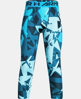New to Outlet Boys' HeatGear® Armour ¾ Printed Leggings  1  Color Available $26.24