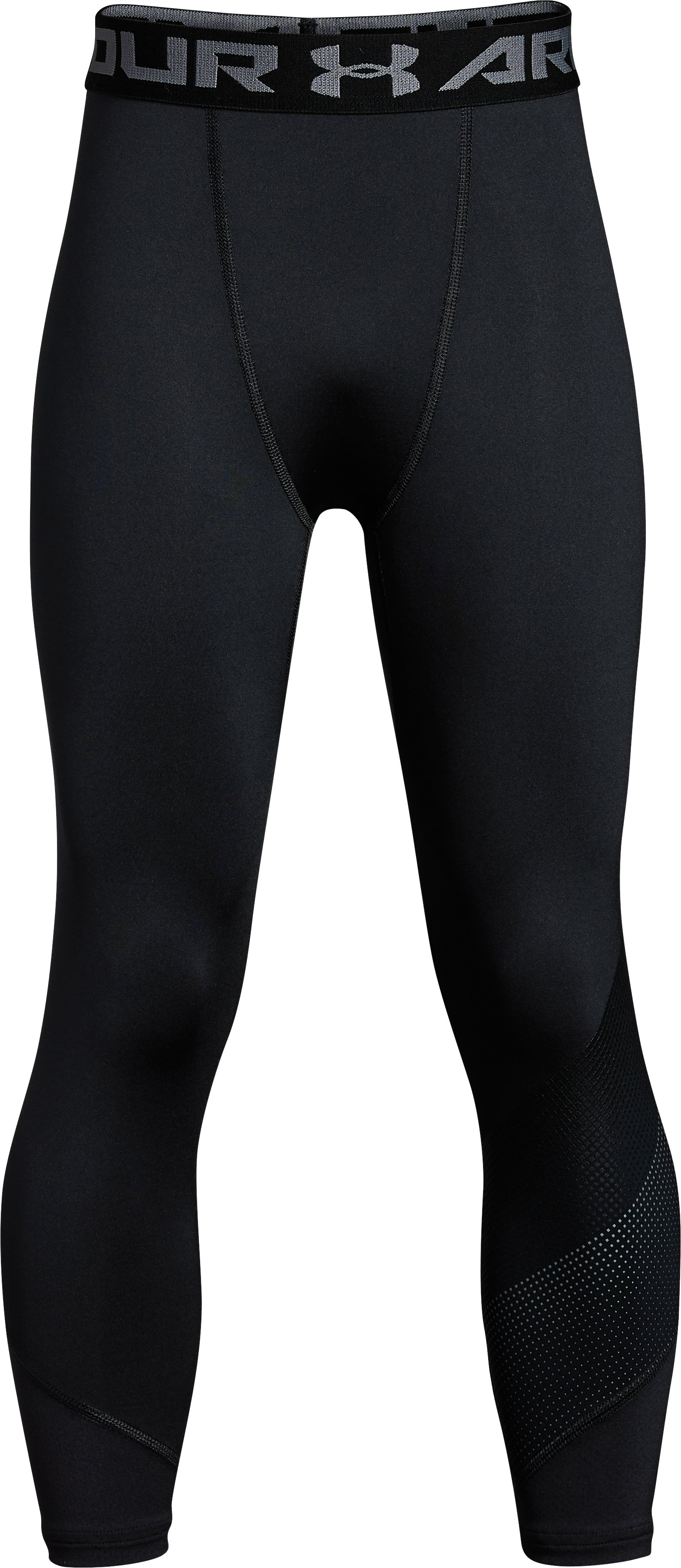 Boys' UA Raid ¾ Leggings, Black