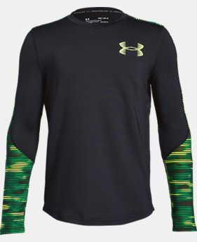 Boys' ColdGear® Armour Printed Crew  1  Color Available $45