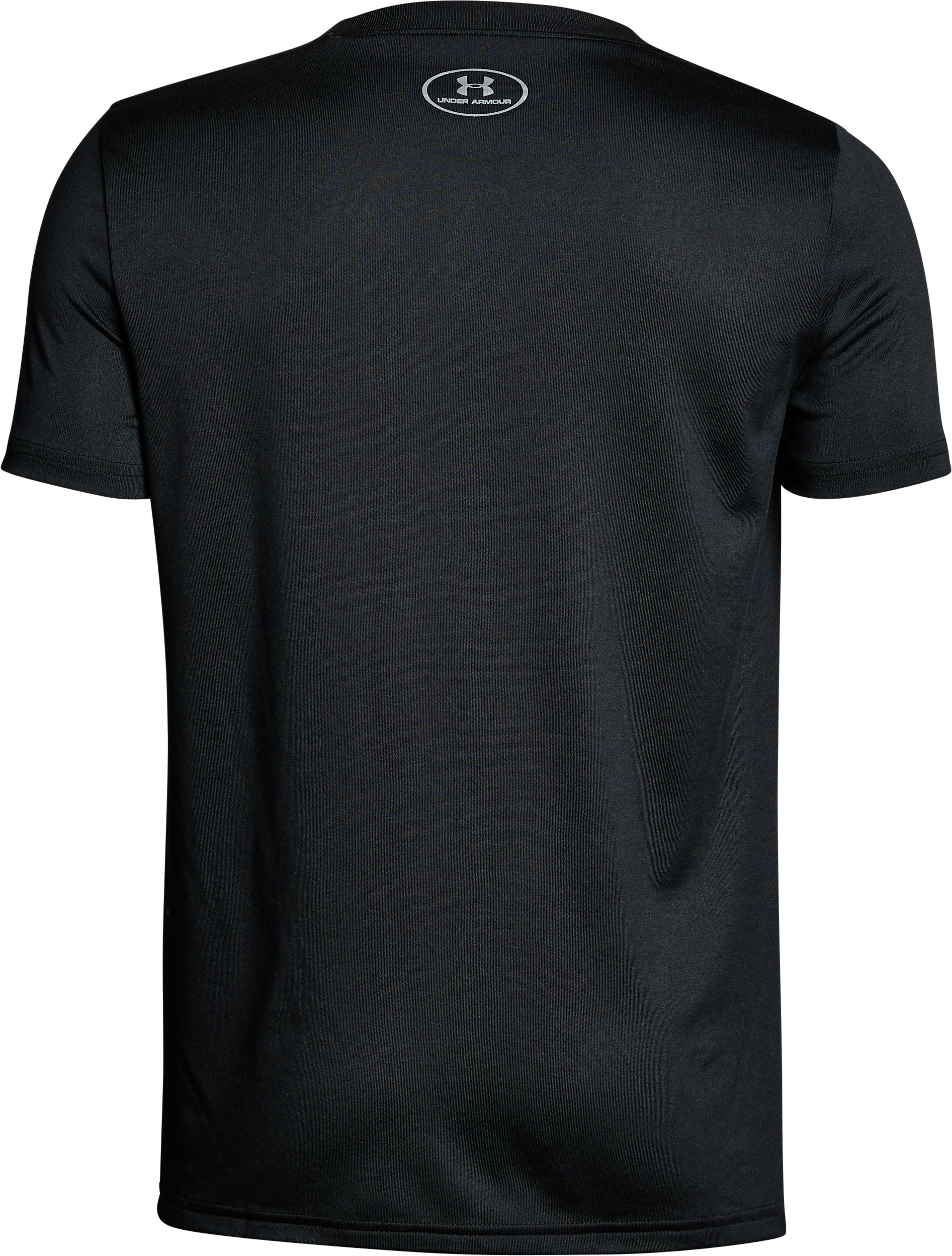 Boys' UA Tech™ Big Logo Solid T-Shirt, Black ,