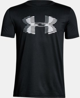 Boys' UA Tech™ Big Logo Solid T-Shirt LIMITED TIME: FREE SHIPPING 1  Color Available $25