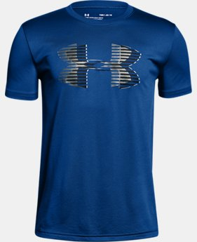 Boys' UA Tech™ Big Logo Solid T-Shirt  2  Colors Available $20