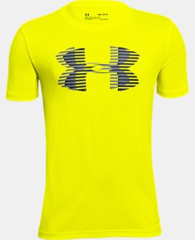 Boys' UA Tech™ Big Logo Solid T-Shirt LIMITED TIME: FREE U.S. SHIPPING 1  Color Available $20