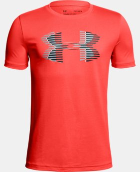 New Arrival Boys' UA Tech™ Big Logo Solid T-Shirt  2 Colors $20