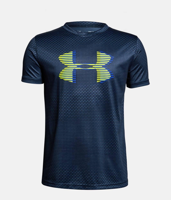 Boys 39 ua tech big logo printed t shirt under armour us for Printed under armour shirts