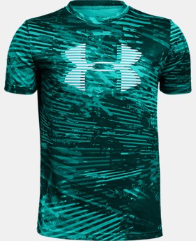 New to Outlet Boys' UA Tech™ Big Logo Printed T-Shirt  2  Colors Available $18.75
