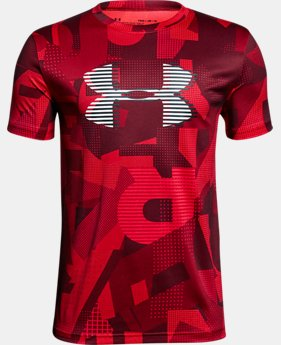 New Arrival Boys' UA Tech™ Big Logo Printed T-Shirt  1 Color $25