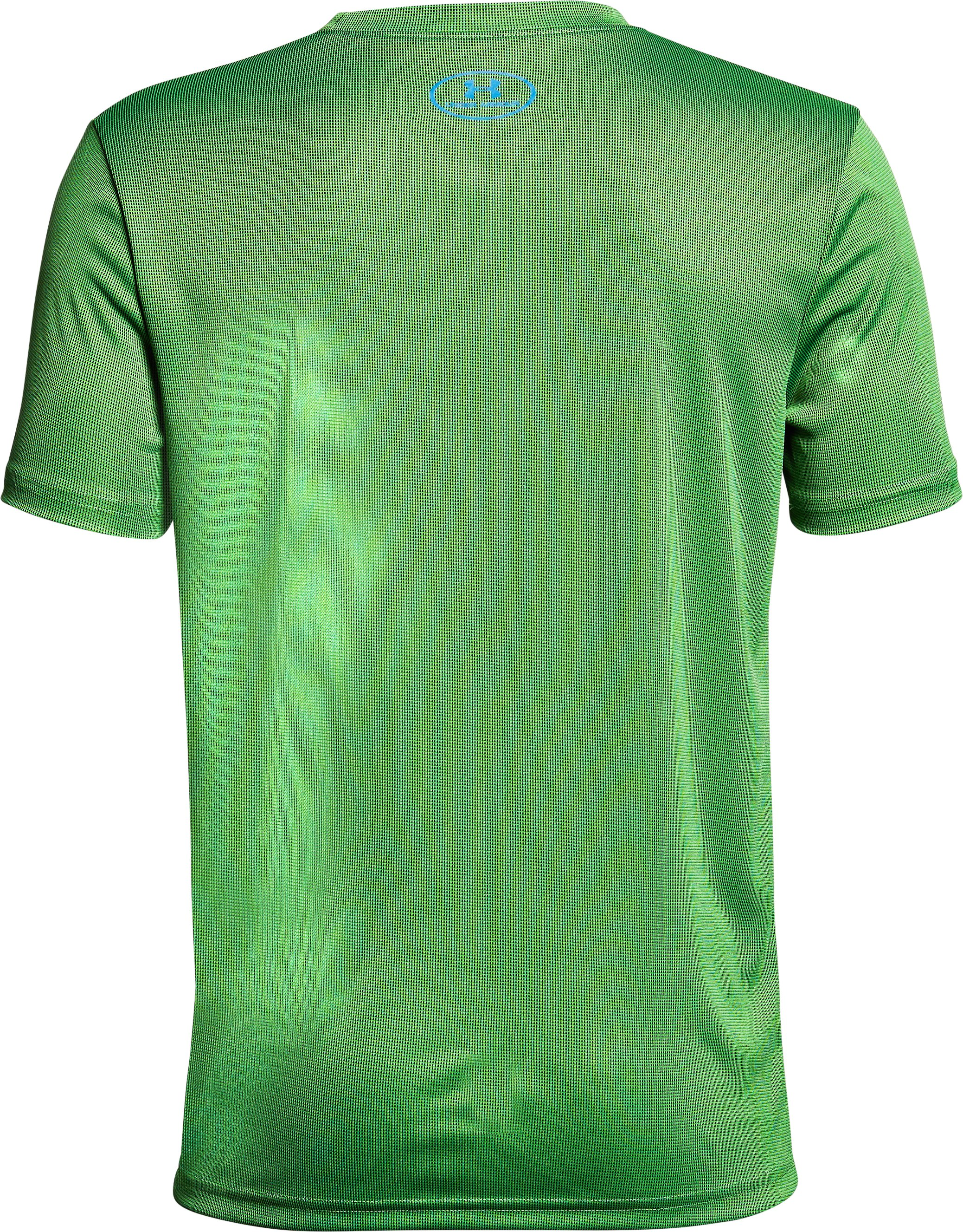 Boys' UA Crossfade T-Shirt, ARENA GREEN, undefined