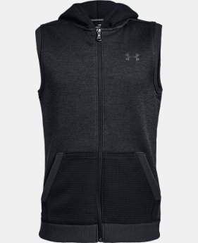 Boys' UA Storm SF Hoodie Vest  1  Color Available $37.5