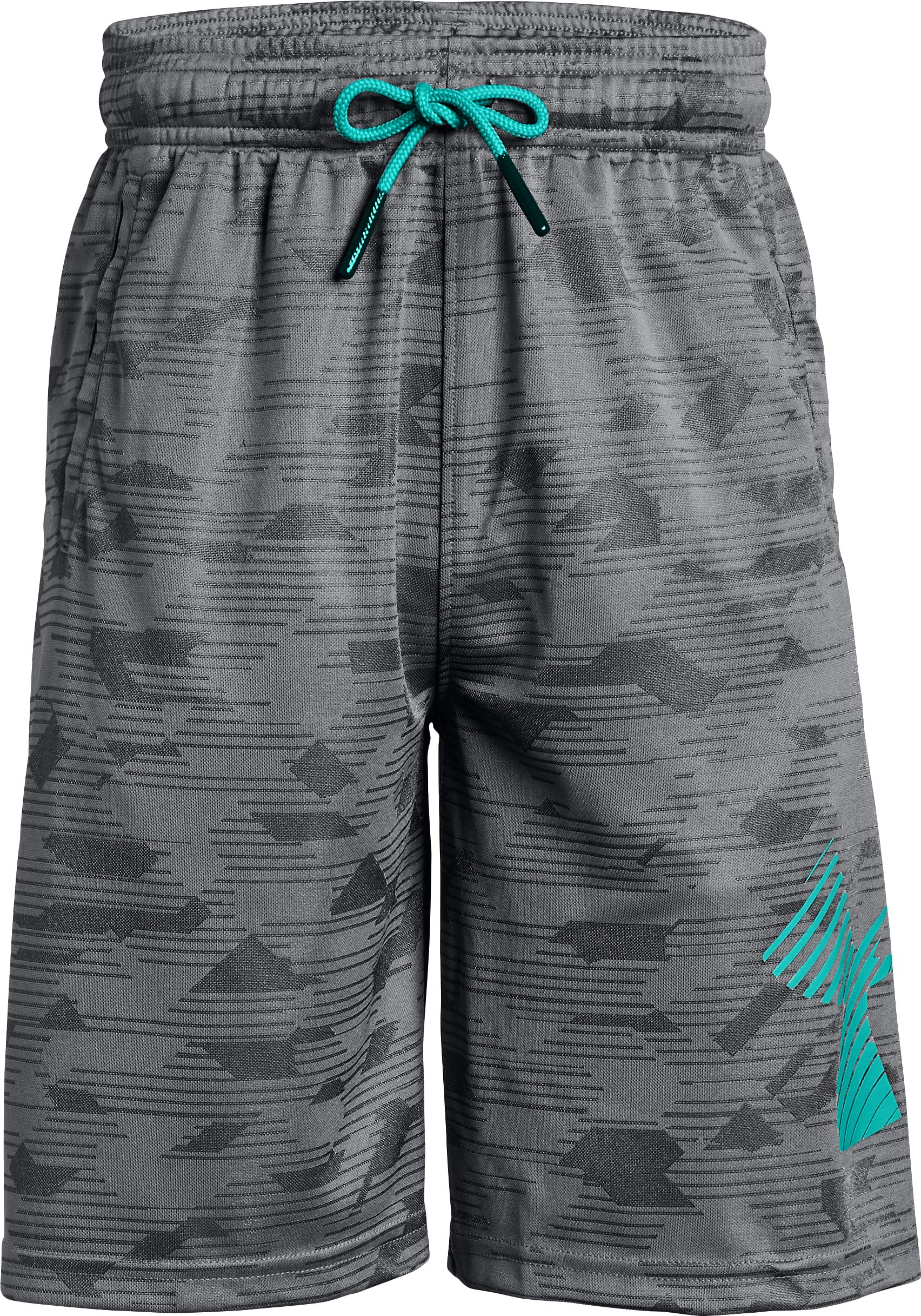 Boys' UA Renegade Jacquard Shorts, Graphite
