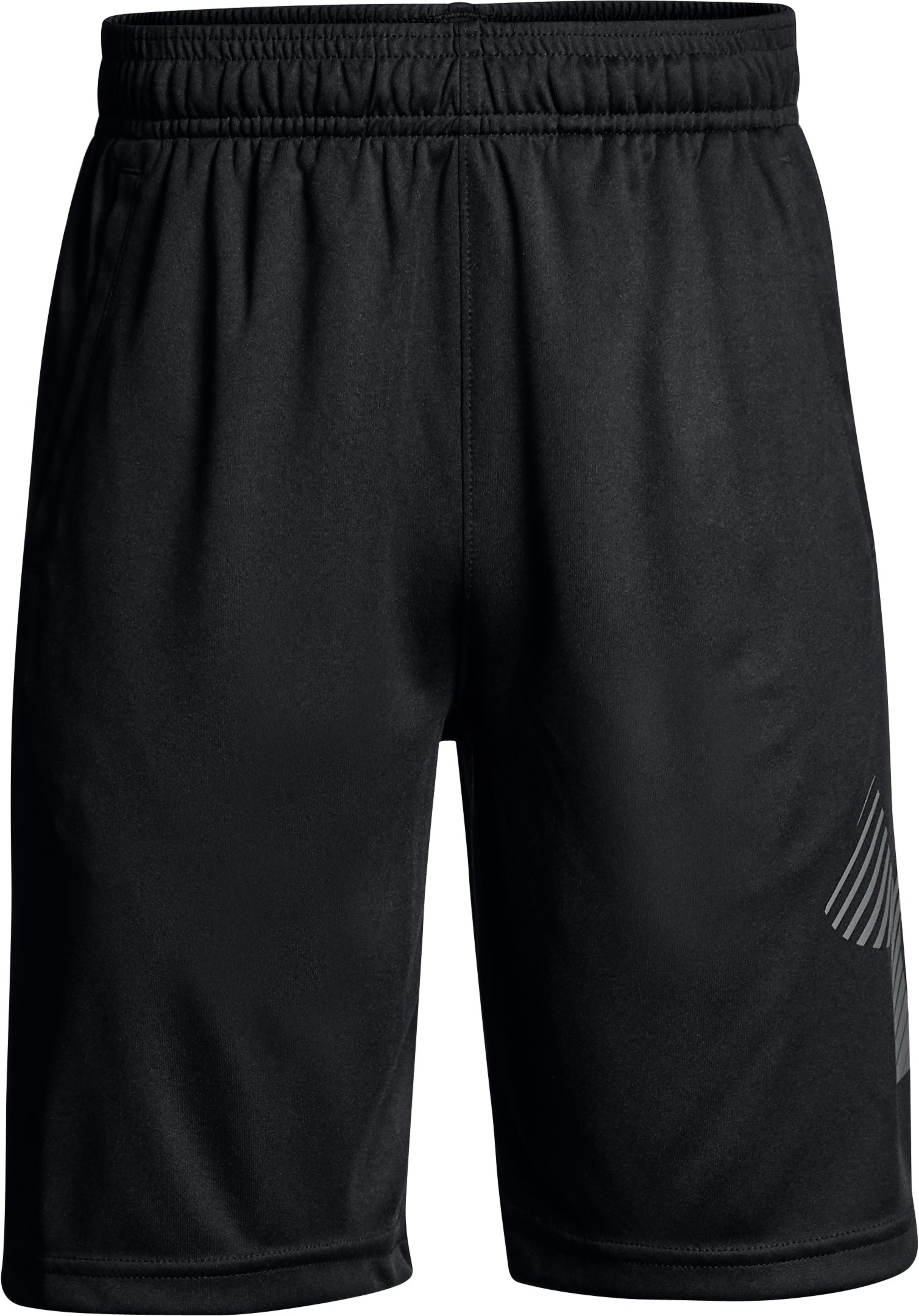 Boys' UA Renegade Solid Shorts, Black ,