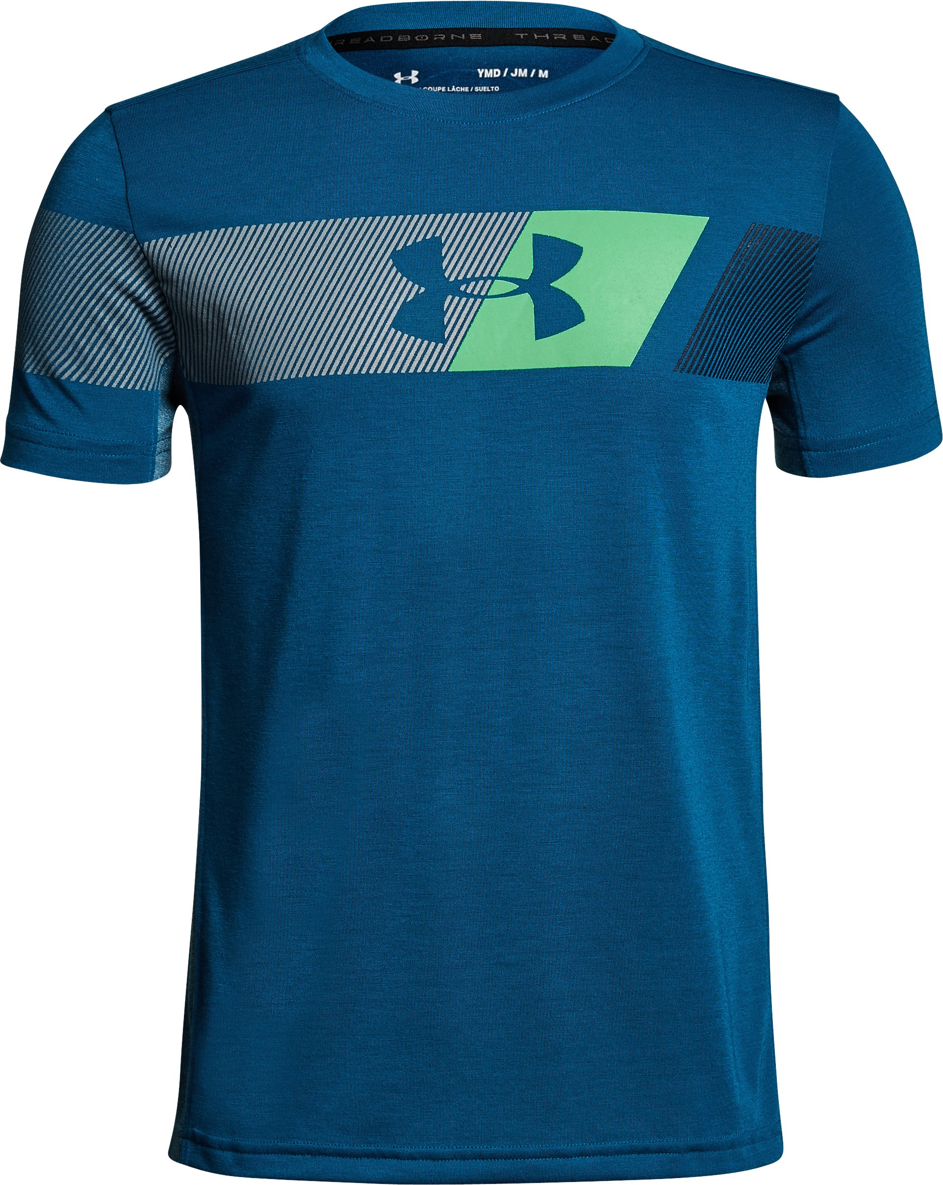 Boys' UA Siro Tech T-Shirt, MOROCCAN BLUE,