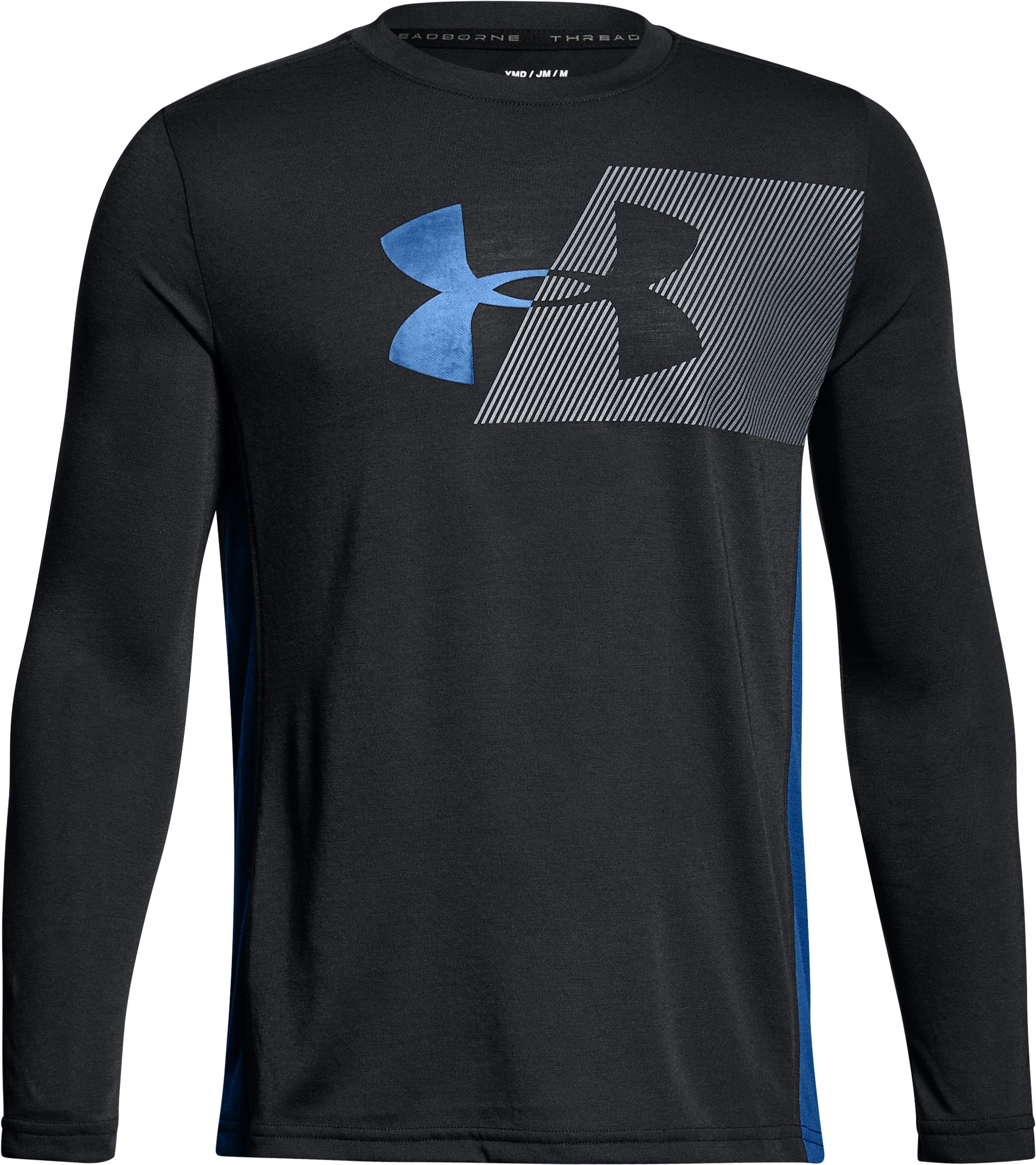 Boys' UA Siro Tech Long Sleeve, Black