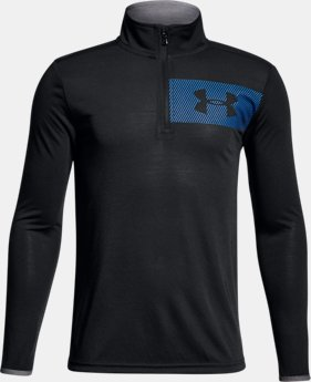 New Arrival  Boys' UA Siro ¼  Zip  3 Colors $45