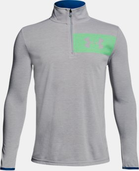 New Arrival Boys' UA Threadborne ¼  Zip  2 Colors $35