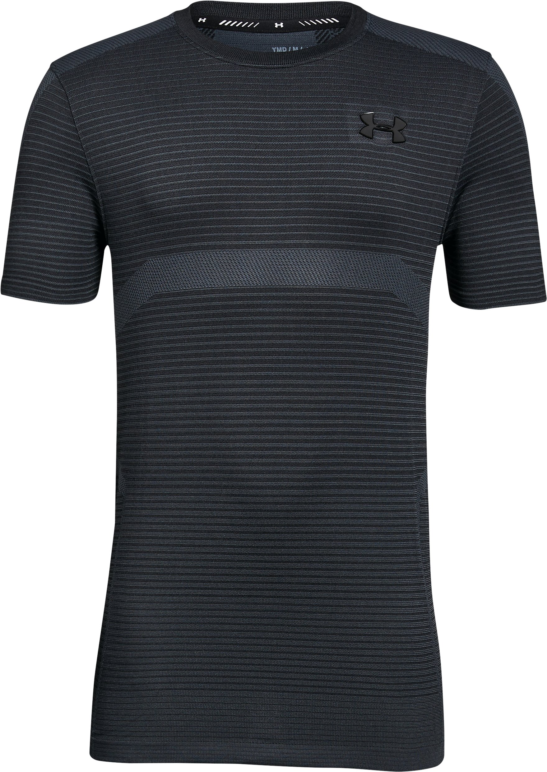 Boys' UA X Level Seamless T-Shirt, STEALTH GRAY,