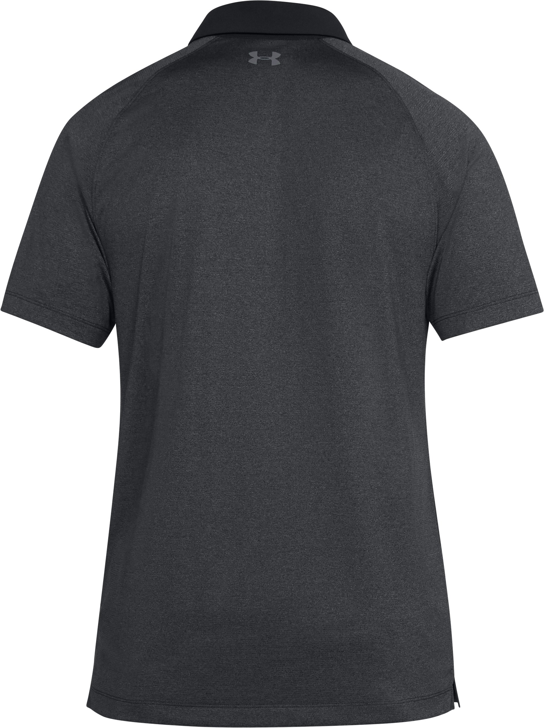 Men's UA Threadborne Polo, BLACK FULL HEATHER,