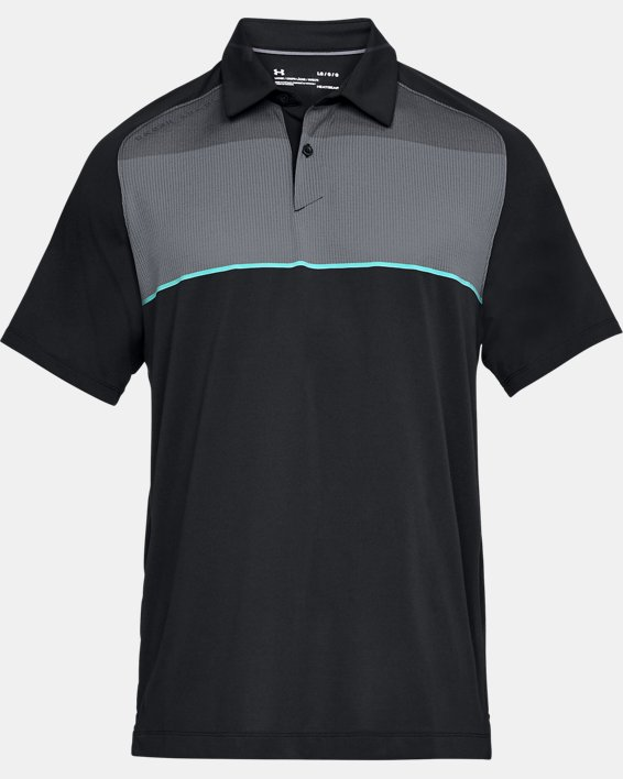 Men's UA Threadborne Infinite Polo, Black, pdpMainDesktop image number 4