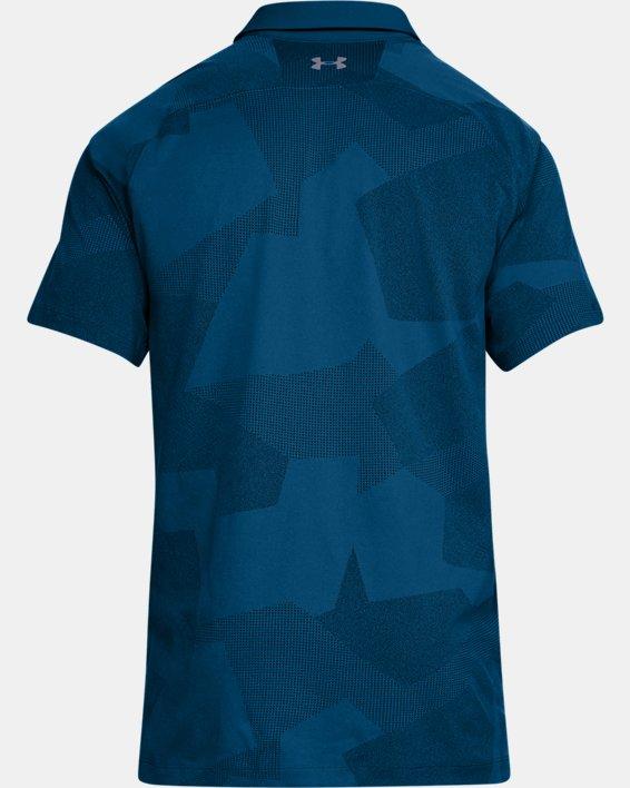Men's UA Threadborne Limitless Polo, Blue, pdpMainDesktop image number 5