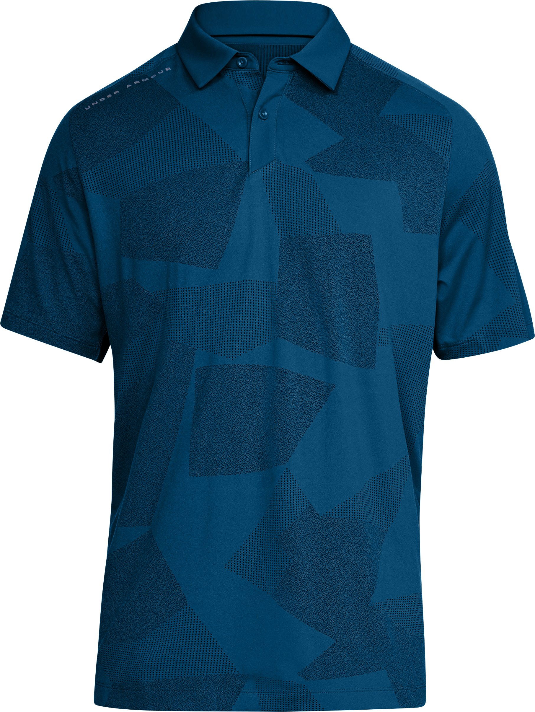 Men's UA Threadborne Limitless Polo, MOROCCAN BLUE,